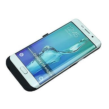 Mondpalast@ Negra USB Externos 5200 mah Batería Funda Cargador Para Samsung Galaxy S6 edge + , s6 edge Plus G928 SM-G928 SM-G928A SM-G928T