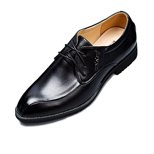 XHD-Shoes, Scarpe Stringate Uomo, Nero (Nero), 39.5 EU