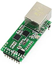 Serial TTL to Ethernet Converter Module RS232 RS485 to TCP/IP Network Server Module with HTTPD Client Support DHCP/DNS Tiny Size USR-TCP232-T2
