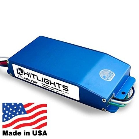 HitLights 60 Watt Dimmable Driver, Electronic, for LED Light Strips - 110V AC-12V DC Transformer. Made in the USA. Compatible with Lutron and Leviton (12v Ac Electronic Led)