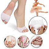 MOPHOTO 4 Pack Half Toe Sleeve Metatarsal Pads - Bunion & Forefoot Cushioning - Great for Diabetic Feet - Prevent Calluses and Blisters