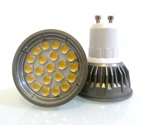 10 x GU10 bombillas LED en luz blanca cálida – 5 W/5 Watt GU10