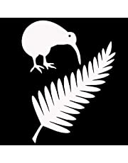 Vinyl stickers for 11.4 * 15 cm Kiwi Bird en Nieuw-Zeeland Fern Vinyl Auto Stickers Creatieve Auto Styling Decal Black/Silver personalised name stickers (Color Name : Silver)