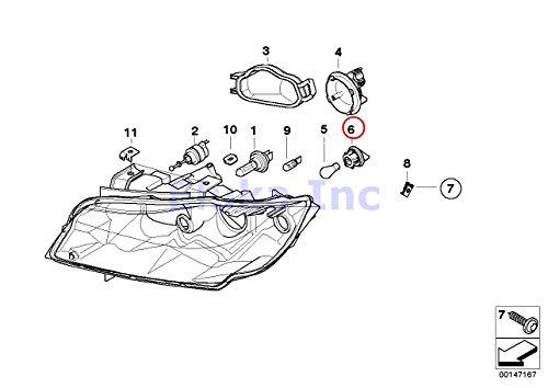 BMW Genuine Bulb Socket For Turn Signal Front LeftRight 323i 325i 325xi 328i 328xi 330i 330xi 335i 335xi M3 325xi 328i 328xi