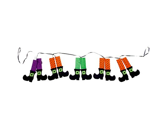 Halloween Witch Legs Garland Inches