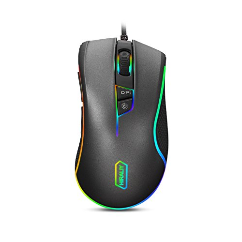 41izbx3b7fL - HIRALIY F300 Gaming Mouse Wired RGB Backlit 9 Programmable Buttons 5000 DPI Optical Sensor PMW3325 (Upgraded Version)