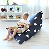 Butterfly Craze Large Stuff Animal Storage Bean Bag Chair Cover for Kids Teens