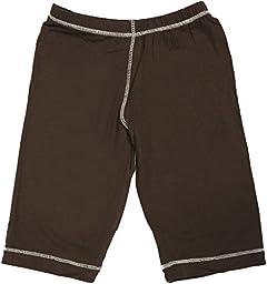 KicKee Pants Unisex Child Basic Pants - Bark - 4T