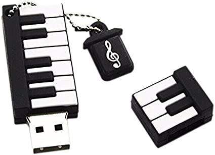 Wansan USB Flash Drive 2GB,Piano Shape Jump Drive Thumb Drive External Storage Memory Stick Expansion