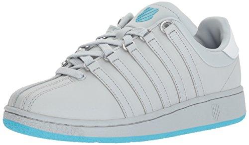 K-Swiss Women's Classic VN Sneaker, Glacier Gray/Blue Atoll/White, 9.5 M - Blue Grey Classic