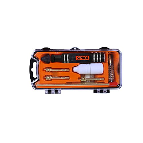 SPIKA Compact Pistol Cleaning Kit for 9mm/.357/.38 cal.40/.41 .44/.45 cal Hand gun Cleaning Kit by SPIKA