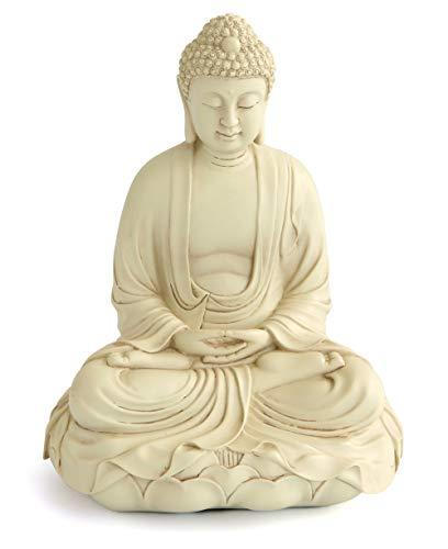 Buddha in Meditation on Lotus Sculpture