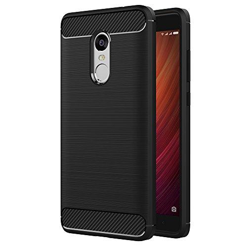Funda Xiaomi Redmi Note 4, AICEK Redmi Note 4 Funda Negro Gel de Silicona Redmi Note 4 Carcasa Fibra de Carbono Funda para Redmi Note 4 5.5 Negro