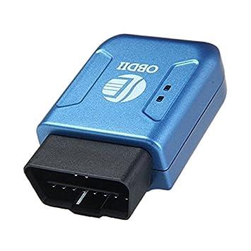 SODIAL OBD II GPS Rastreador -OBD II GPS Rastreador Localizador Seguridad de Bolsillo por satelite gsm GPRS SIM SOS (Azul): Amazon.es: Coche y moto