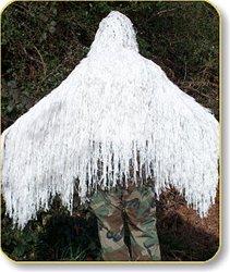 Stalker Ghillie Poncho - Winter White
