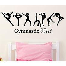 Wall Decal Vinyl Sticker Decals Art Decor Design Ballerina Gymnastics Girl Sign Ballet Dancer Acrobatics Sport Bedroom Living Room