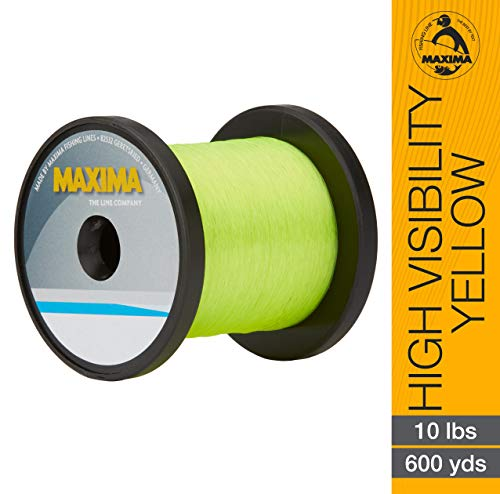 - Maxima Fishing Line Guide Spools, High Visibility Yellow, 10-Pound/600-Yard