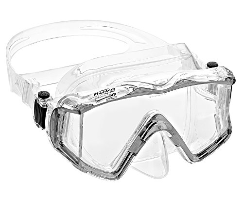 Phantom Aquatics Panoramic Scuba Snorkeling Dive Mask (Clear)
