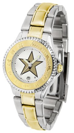 SunTime Vanderbilt Commodores Competitor Ladies Watch with Two-Tone Band