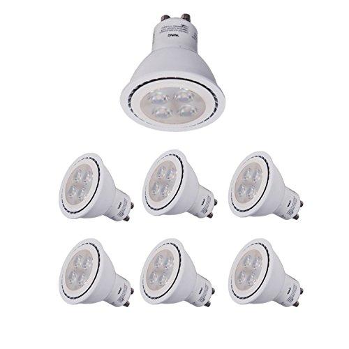 (WAC Lighting GU10LED-BAB-WT-6 LED GU10 Lamps Light Bulb 6 Pack White 6 Each)