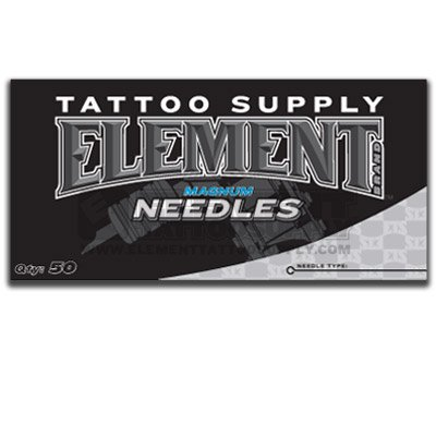 (11 Mag) Element Flat Magnum MAG Shader Tattoo Needles 50 Pack Available in Many Different Sizes - 5, 7, 9, 11, 13, 15, (Needle Flat)