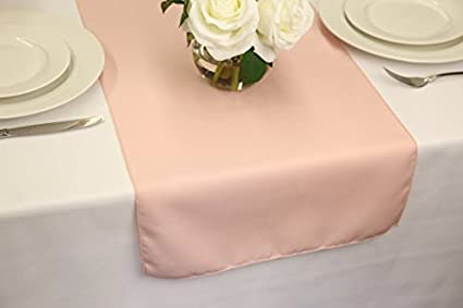 Amazon wedding table runners 14 x 108 blush home kitchen wedding table runners 14quot x 108quot junglespirit Gallery
