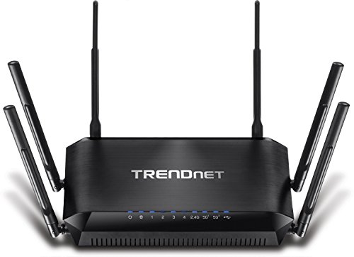 TRENDnet AC3200 Gigabit Tri-Band Wi-Fi Router, DD-WRT Compatible, Tri-Band, Smart Connect, 1GHz dual core processor, VPN, TEW-828DRU by TRENDnet
