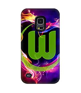 3D Cover VfL Wolfsburg Football Teams Logo pour Galaxy S5 Funda Case Print Pattern Hard Back Protective Popular Design Snap on Samsung Galaxy S5