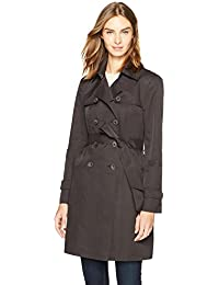Women's Lightweight Double-Breasted Trench Raincoat