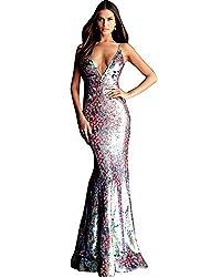 Sequin V-Neck Prom Dress