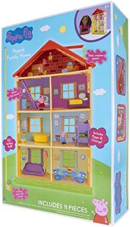 Peppa Wutz PEP0757 Peppa's Traumhaus Spielset Haus mit 2 exklusiven Figuren: Peppa und Schorsch mit Zubehör für Kinder ab 2 Jahren