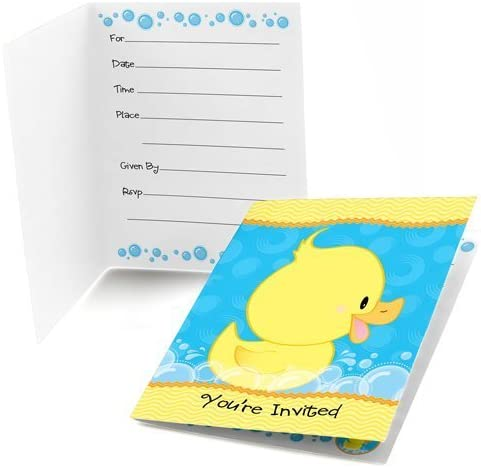 baby shower ducky theme invitation