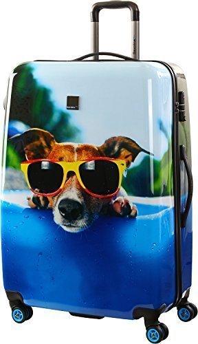 Saxoline Blue Happy Dog Maleta a 4 ruedas 77 cm happy dog