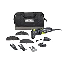 Rockwell 3.5 Amp Sonicrafter F30 Oscillating Multi-Tool, with Variable Speed, Hyperlock Clamping, Vibrafree Technology, and Universal Fit System, 32-Piece Kit with Carry Bag - RK5132K