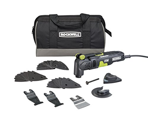 Rockwell 3.5 Amp Sonicrafter F30 Oscillating Multi-Tool, with Variable Speed, Hyperlock Clamping, Vibrafree Technology, and Universal Fit System, 32-Piece Kit with Carry Bag – RK5132K