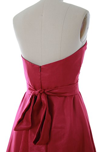 Short Dress Party Bridesmaid Sash Wedding Women MACloth Elfenbein Sweetheart Gown with FR7qI6wE6W