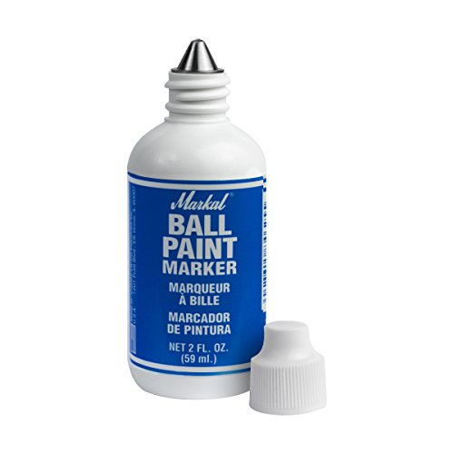 "Markal Ball Paint Marker with 1/8"" Tip, Blue - Single Unit"
