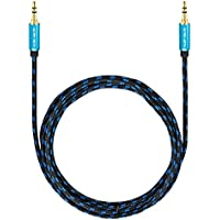 Ultra HDTV AUX-Cable 16.4 Feet | Audio Cable 3.5mm to 3.5mm | Cinch Cable with metal adapters