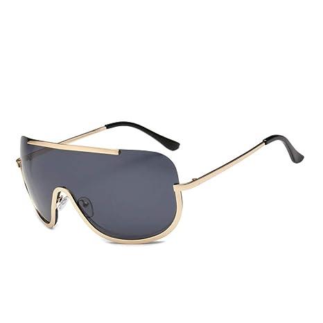 Yangjing-hl Gafas de Sol siamesas de Montura Grande Moda ...
