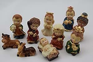 Be4to infantil de figuras de bel n de bel n de miniatura for Amazon figuras belen