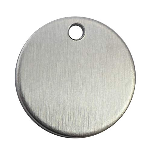 RMP Stamping Blanks, 3/4 Inch Round W/Hole, Aluminum .063 Inch (14 Ga.) - 50 Pack