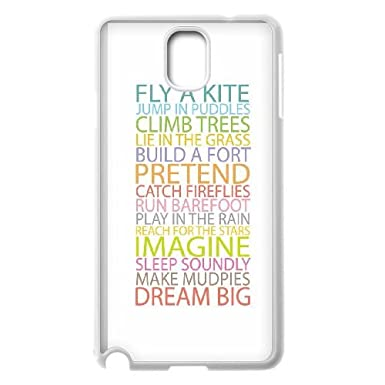 Samsung Galaxy Note 3 Cell Phone Case White Quotes Simple Color Life