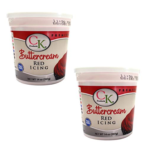 CK Products 14 oz Red Buttercream Icing, 2 -