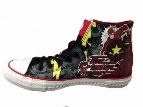 06ff8b39c38c Converse Chuck Taylor Hi All Star The Flash Scarlet Speedster DC Comics  141321C Shoes (Size 11)  Amazon.ca  Shoes   Handbags