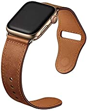 leather loop band for apple watch series 5, 44mm brown color