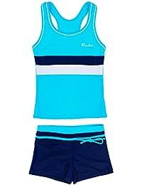 Little Girls Summer Two Piece Boyshort Fashion Tankini Swimsuit