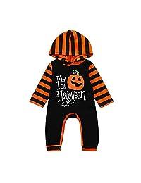 Veepola Infant Toddler Baby Girls Boys Pumpkin Hooded Romper Halloween Custome