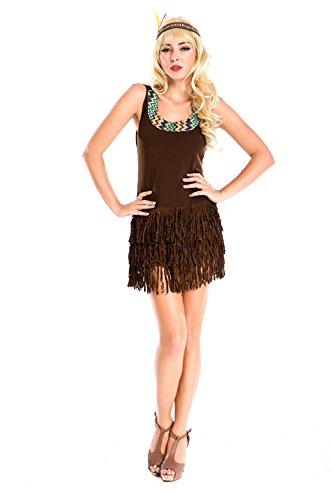 LLY Costume d'halloween tribus Indiennes Costume de Princesse Uniformes de rôle Tentation