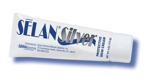 Selan Protective Cream (Selan© Silver Protective Skin Cream 4 oz. Tube)