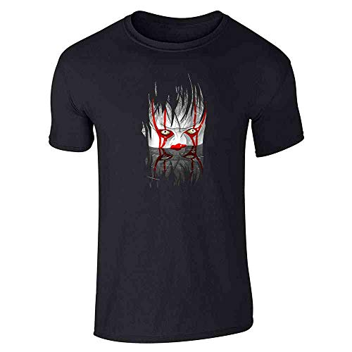 Pop Threads You'll Float Too Horror Clown Scary Costume Black 2XL Graphic Tee T-Shirt for Men